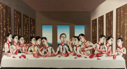 曾梵志作品拍1.8亿港元 成亚洲最贵当代艺术品